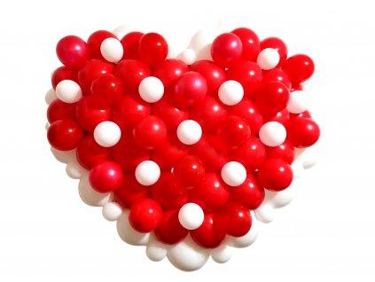Valéntýnský dýrek ke valentýnu srdce z balónků balonky z lásky (4)