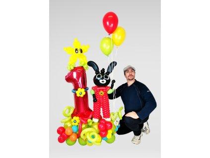 Bing králíček bunny pro děti balónky z balónků hračka dárek dárky narozeninové párty (1)