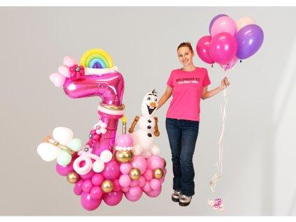 elsa anna ledové království frozen narozeninové balonky párty z balónků pro děti dárek dárky (2)
