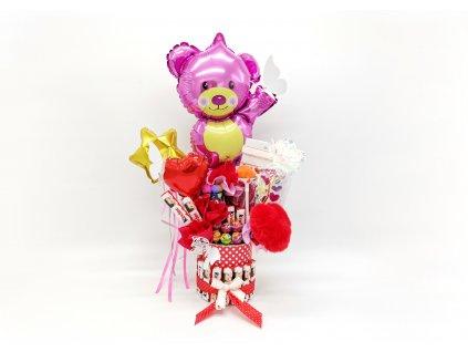 narozeninové balónky z balónků párty dárek dárky box s překvapením sladkosti růže z lásky (2)