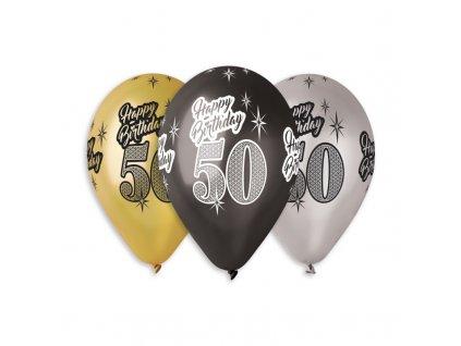 50 číslo narozeniny narozeninové balonky balonek s číslem happy birthday párty