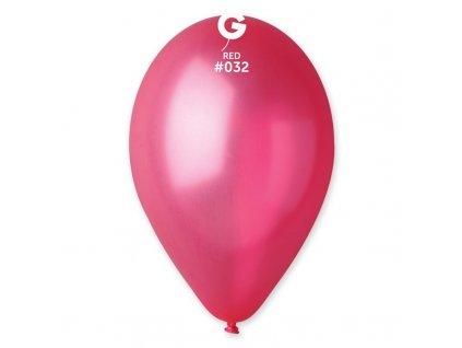 červený metalický balonek