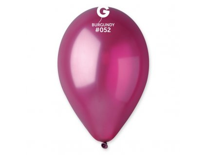 burgundy metalický balonek