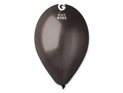 černý metalický balónek