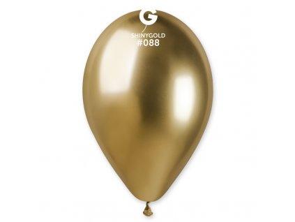 chromový zlatý balonek