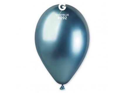 chromový modrý balonek