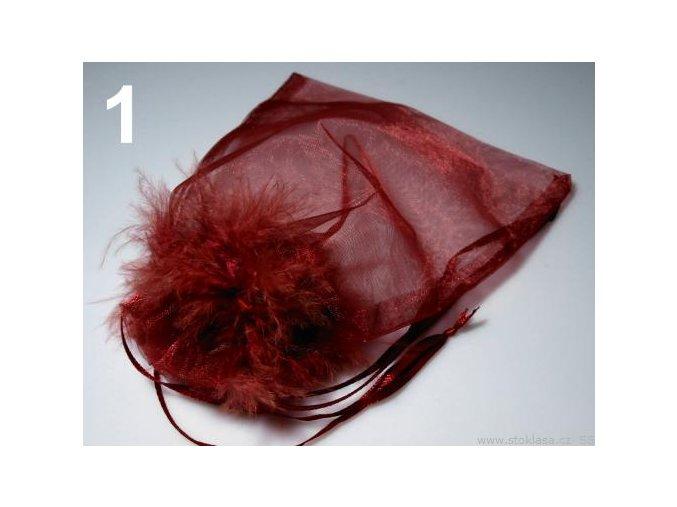 Pytlíček dárkový 13x19 monofil s labutěnkou - červená