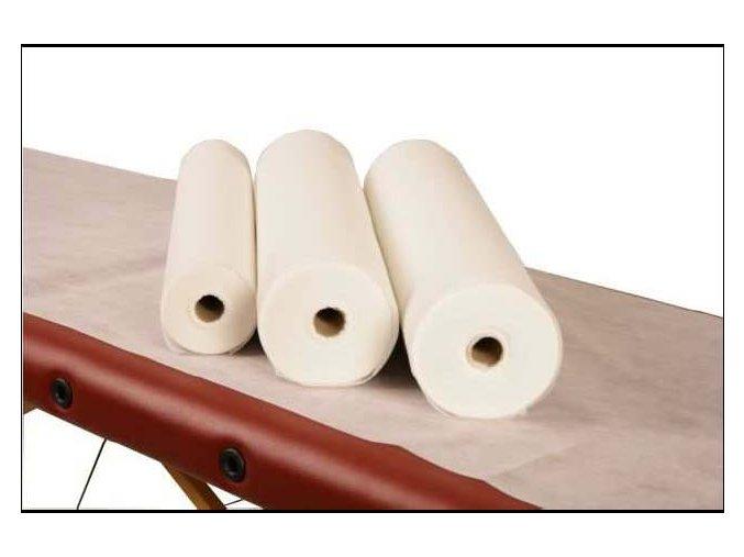 Prostěradlo netkaná textilie role 80 cm - 250 m bílá 15g. - vysoká kvalita - bez perforace