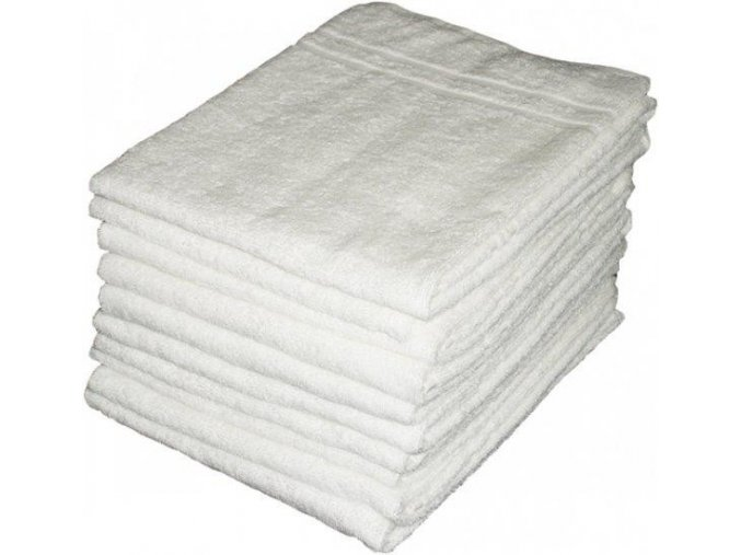 Froté ručník - bílý - 50x100 cm