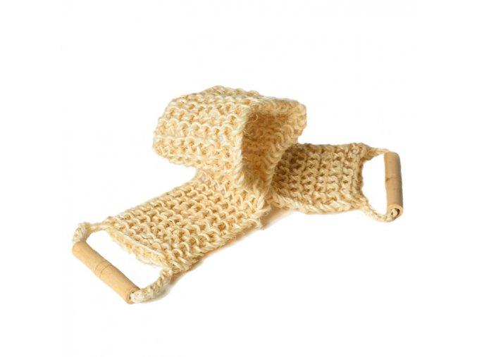Masážní pás na záda sisal z dřevěnou rukojetí