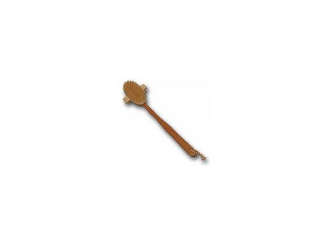 Masážní kartáč dřevěný - snímatelná rukojeť