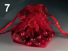 Dárkový pytlík O22cm organza - červený