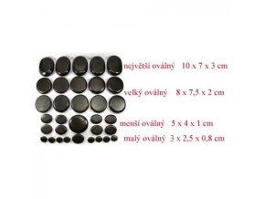 Lávový kamen malý oválný  3 x 2,5 x 0,8cm