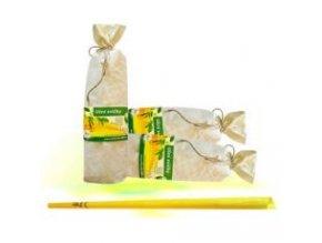 Ušní svíčky HOXI - ručně dělané - S TEA TREE -  10 ks - baleno v plátěném pytlíku