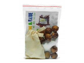 Mýdlové ořechy - moje první sada (+puer a sáček na ořechy)