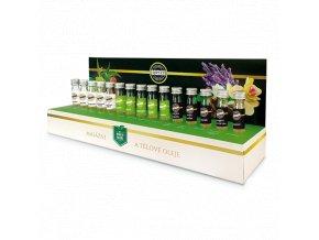 Nádherná sada masážních olejů pro milovníky domácích voňavých masáží.