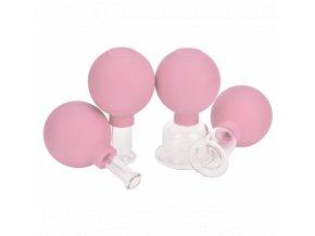 Sada baněk s balónkem - obličejové - růžové
