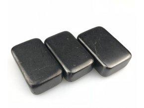 Masážní kámen Šungit - léčivý minerální kámen - 50x30x20 mm