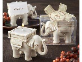 Svícen SLON na čajovou svíčku - pro štěstí
