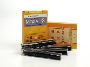 Karbonizovaná nekouřící moxa 5 ks - BIAN QUE PAI