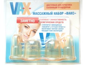 Silikonová masážní baňka - SADA 4ks - malé baňky