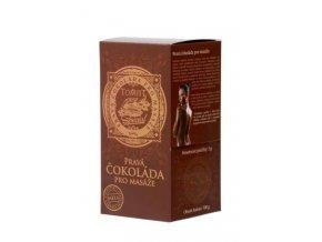 Pravá LUXUSNÍ čokoláda pro masáže 700 g. - pecičky