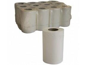 Bílé papírové ručníky v roli 20cm - 50m (143 útržků)