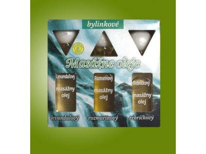 Masážne oleje - Levanduľový, Rozmarínový, Rebríčekový