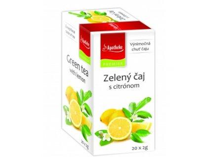 Zelený čaj s citrónom