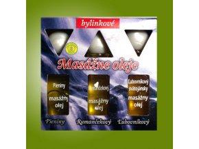 Masážne oleje - Pieniny, Rumanček, Ľubovník