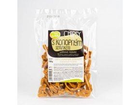 Chipsy s konopnými semienkami