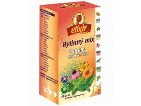Elixír - Bylinný mix, 4 druhy bylinných čajov