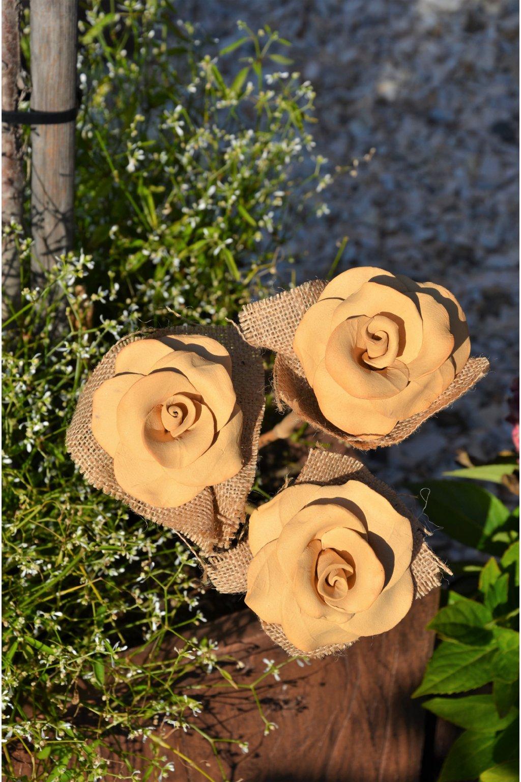 Růže na bambusu