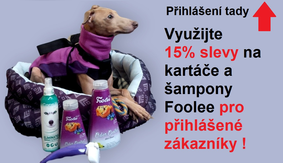 Pes kartáč foolee šampon proti zápachu