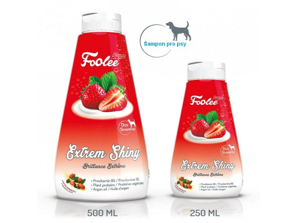 Šampon pro psy Foolee Beauty Extrem Shiny s arganovým olejem a vitamínem B