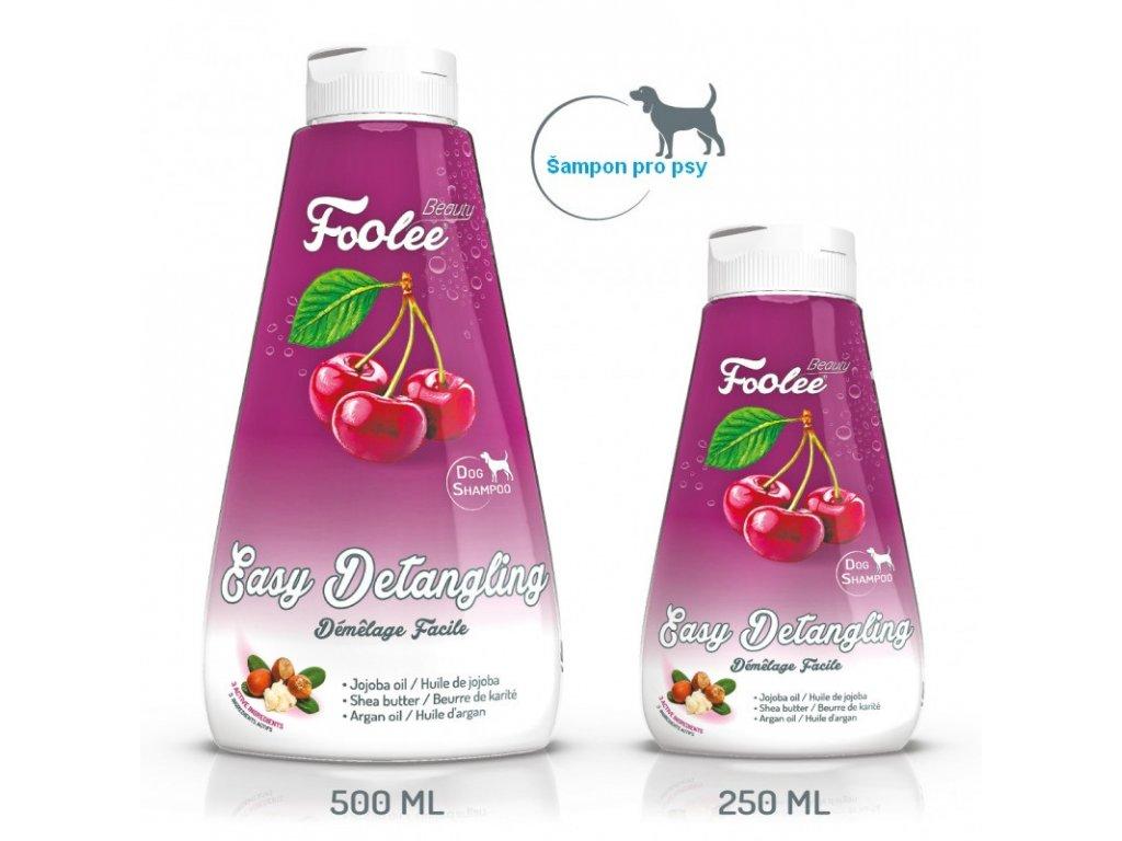 Šampon pro psy Foolee Beauty Easy Detangling s jojobovým olejem pro snadné ročesávání