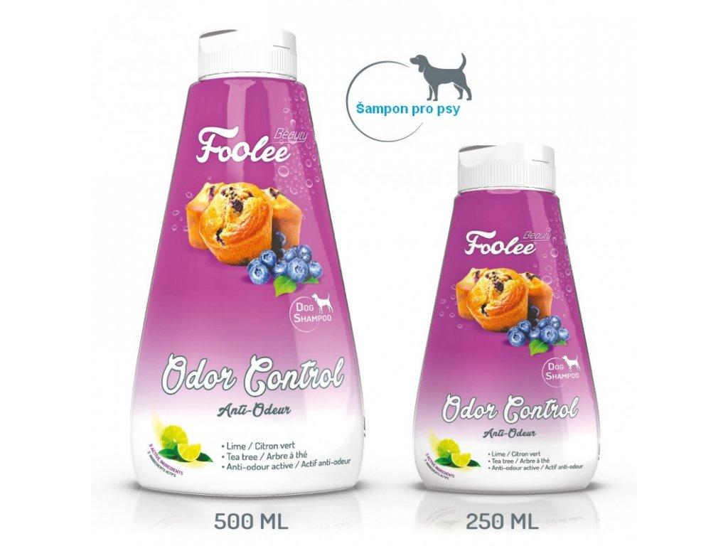 Šampon pro psy Foolee Beauty Odor Cotrol s limetkou pro dostranění zápachu