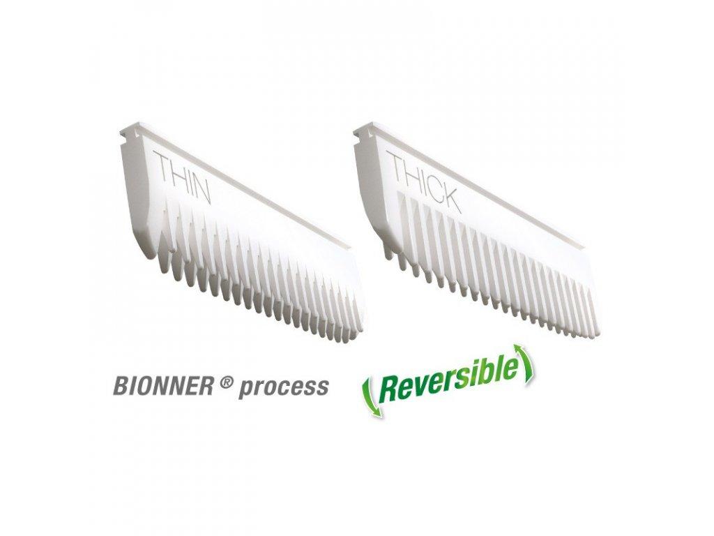 Hřebeny náhradní do foolee Easee 95 mm bílé velkost L materiál bionner z boku