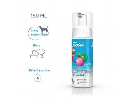 Šampon pro psy Foolee beauty Easy Deshedding pro vyčesávání v období línání s cipřišovým olejem suchá pěna