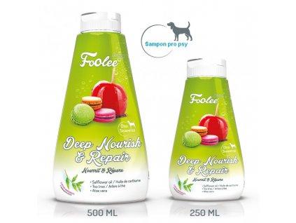 Šampon pro psy foolee Beauty Deep Nourish & Repair se světlicovým olejem pro regeneraci srsti