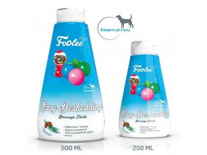 Šampon pro psy Foolee beauty Easy Deshedding pro vyčesávání v období línání s cipřišovým olejem