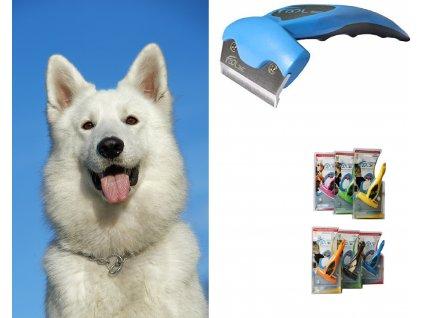 Vyčesávací hřebeny na línající psy Foolee používané jeko furminátor na pročesání podsady