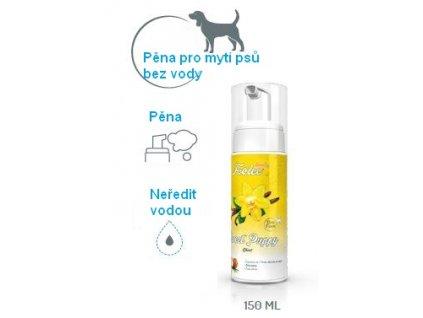 Suchý šampon (pěna) pro štěňata na mytí bez vody foolee sweet puppy