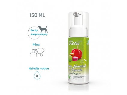 Šampon pro psy foolee Beauty Deep Nourish & Repair se světlicovým olejem pro regeneraci srsti suchá pěna
