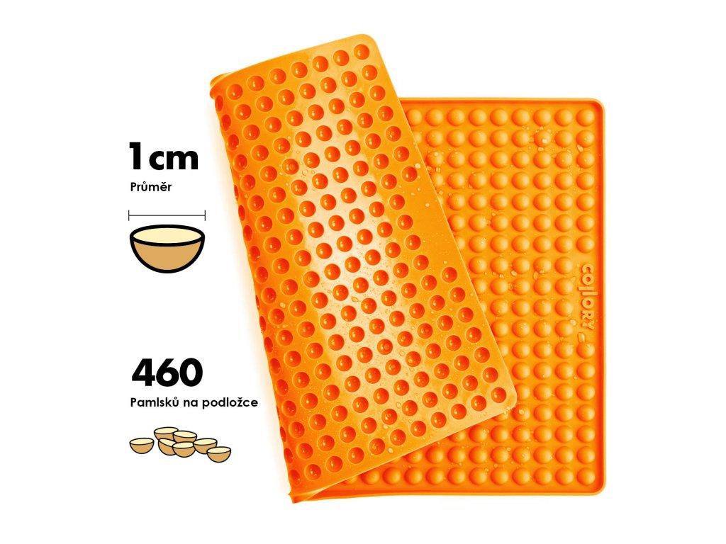 1cm Halbkugel Backform orange 05