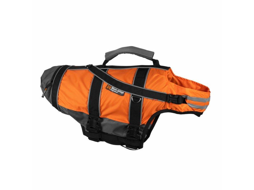 5665 2 non stop plovaci zachranna vesta oranzova