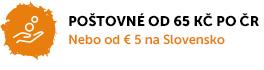 Poštovné již od 50 Kč po České republice nebo od € 3,5 na Slovensko