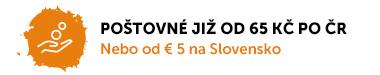Poštovné již od 60 Kč po České republice nebo od € 5 na Slovensko