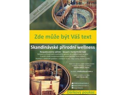 Dárkový poukaz na volnočasovou aktivitu: přírodní Wellness (Pátek - Neděle*)