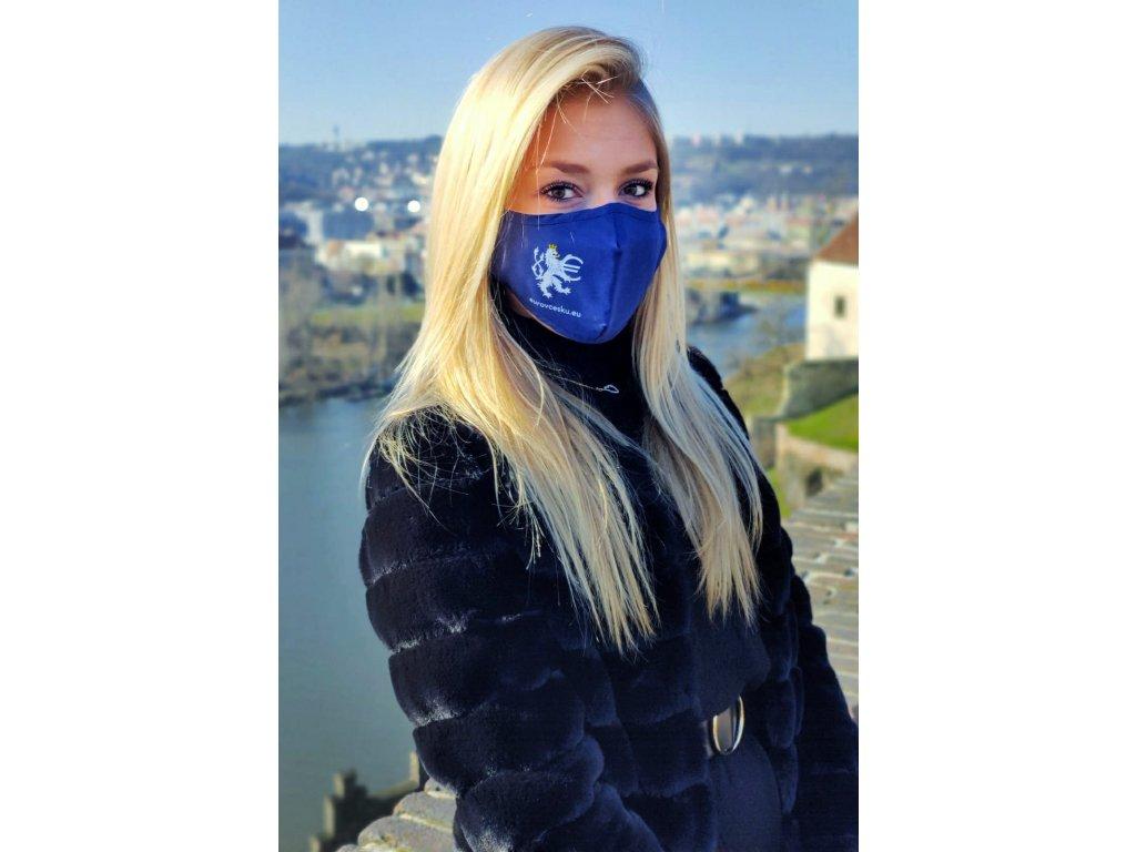 Rouška s kapsou + 2x filtr PM2.5